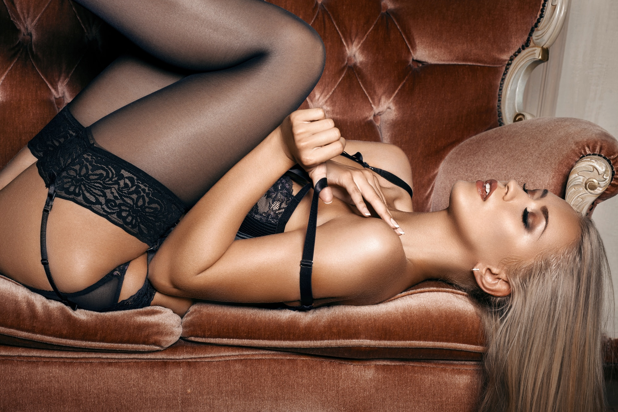 sexy woman in stockings